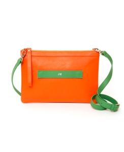 Clutch-Mattea-Bags_Naranja-y-verde-con-bandolera_grabado_9000eur